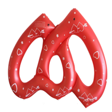 Factory Inflatable Swimming float with Double Red Heart for Pool Water Sports