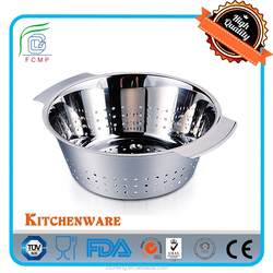 High Quality Stainless Steel Deep Colander with Handle