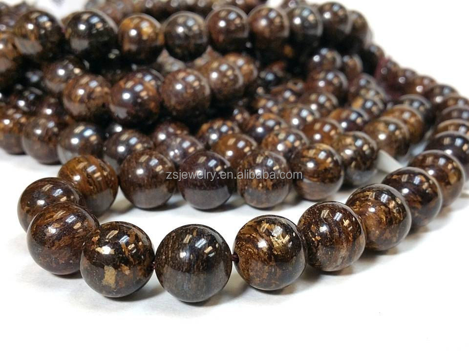 Imported Coffee color stone accessories scattered beads 12mm10mm8mm6mm size custom minimum price