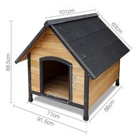 Outdoor Weather Winter Proof Shelter Patio Wooden Dog Kennel