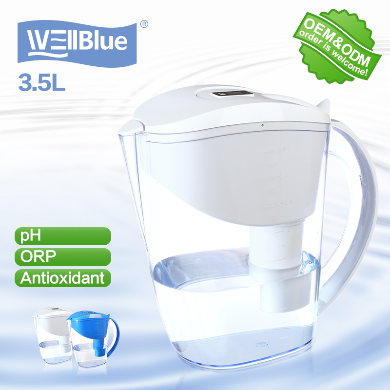 Portable&Potable alkaline water filter jug pot
