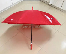 red whistle cartoon design auto open curved handle straight kids umbrella