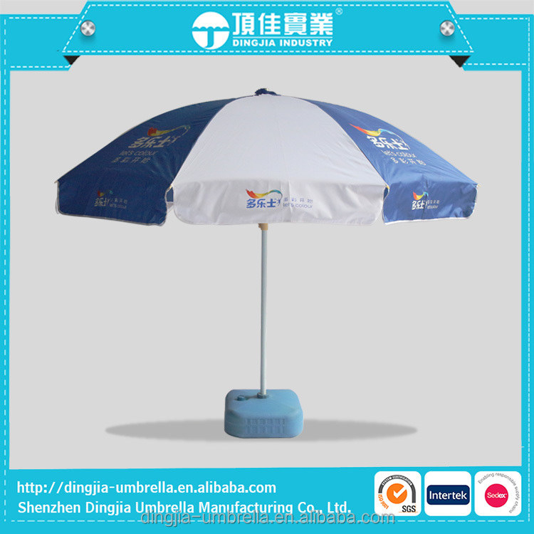 Twist-In Beach Umbrella With Fringe Wholesale, Two Color Folding Beach Umbrella