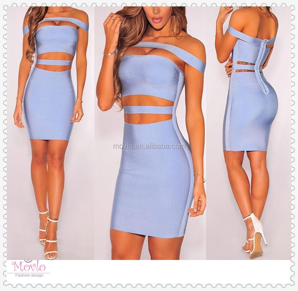 2016 new fashion off shoulder party club sexy women cheap bandage dress