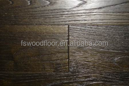 Asian Teak handscraped hardwood flooring