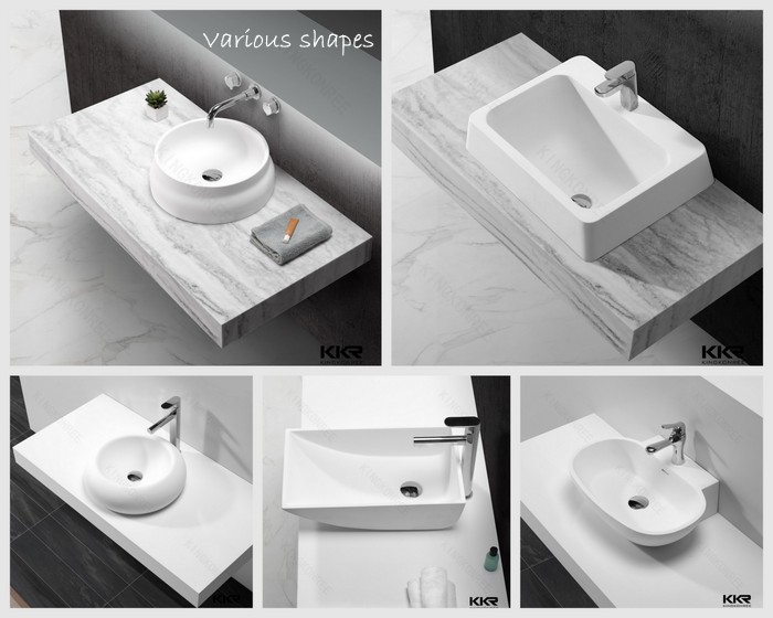 solid surface bowl wash basin/ single washplane sink/ sink with hose