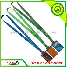 Custom made sublimation printed polyester lanyard with ID pass badge