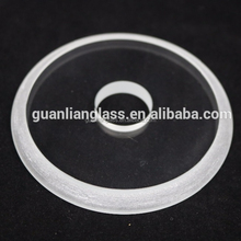 ultra clear auto production step glass for lamp shade cover