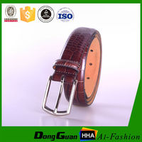 Eco-friendly fake leather belt with snake PU inserted