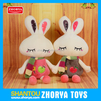 Zhorya girls gift rabbit soft plush stuffed cartoon animal toys