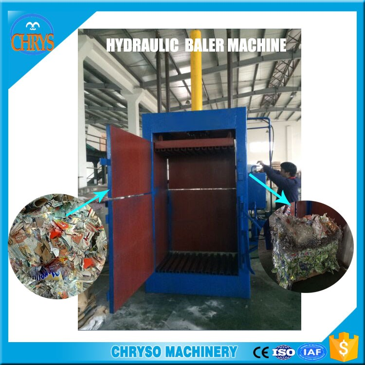 high quality Vertical aluminum alloy frame baling machine can scrap baler for sale