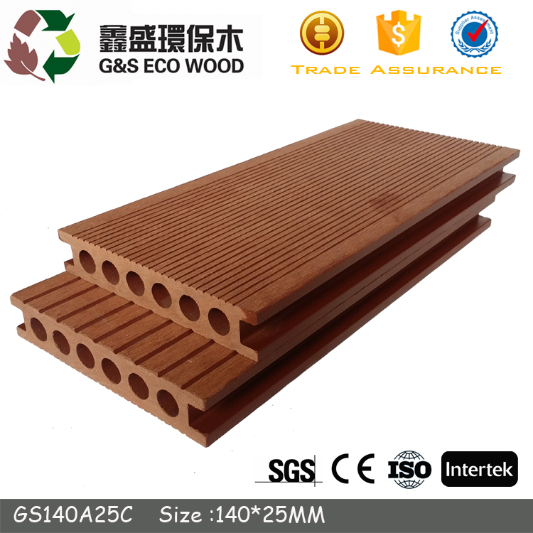 Outdoor 150*25mm best cheap price wpc flooring plank