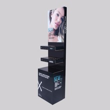 Cosmetics Store Promotional Cardboard Floor Display Make Up Display