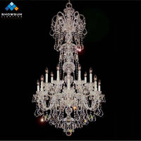 14 lights silver restaurant pendant lighting