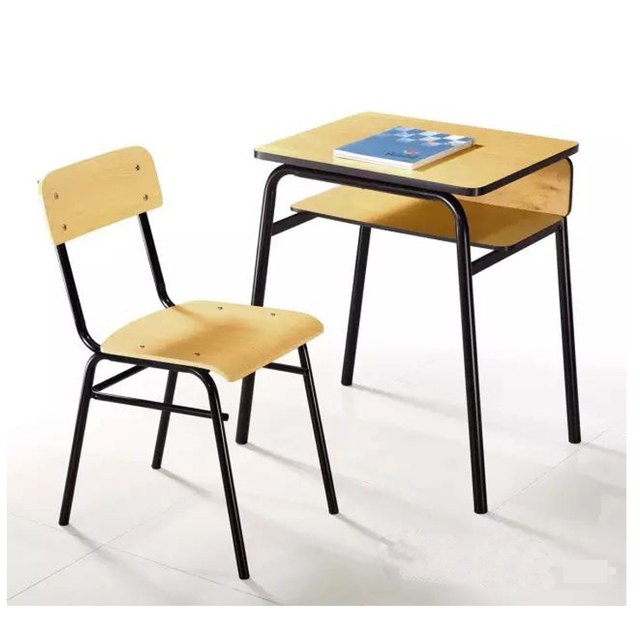 New design school furniture desk and chair/Single classroom furniture for sale