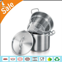3-layer polishing large stainless steel steamer 30cm and cooking pots for home cooking