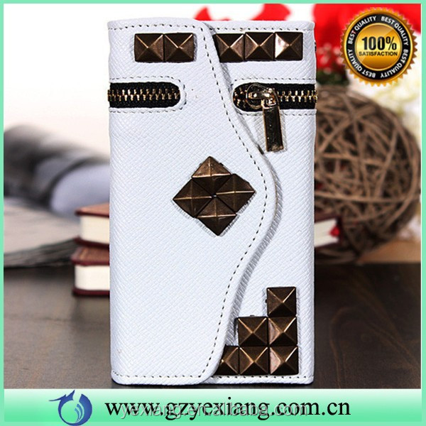 For iPhone 5S Phone Wallet Case, Fashion Design Leather Cover For iPhone 5