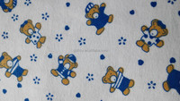 stretch cotton flannel fabric for baby sheet set