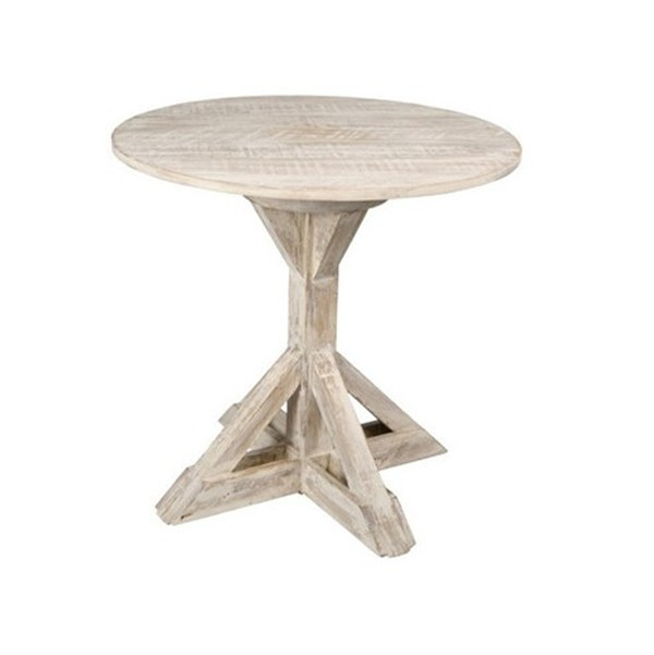 Mrs Woods Antique Furniture Reclaimed Wood Round Dining Table