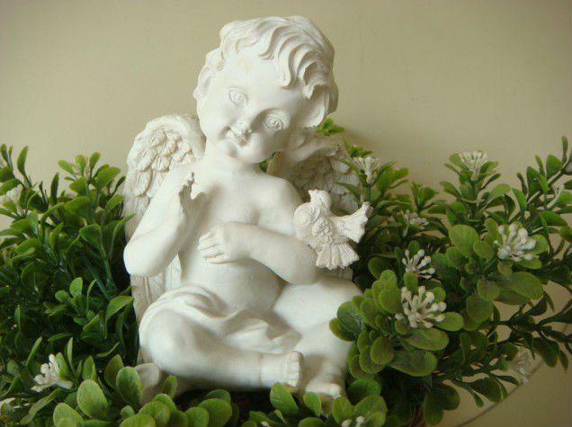 resin crafts decorative ornaments angel baby statue figurines