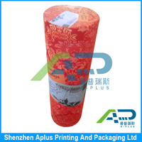 Factory wholesale printing cardboard packaging boxes wine gift tube paper wine box
