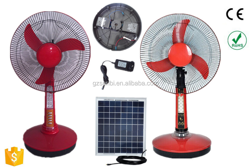 In stock 12v dc table fan 16 inch battery rechargeable for 12v dc table fan price