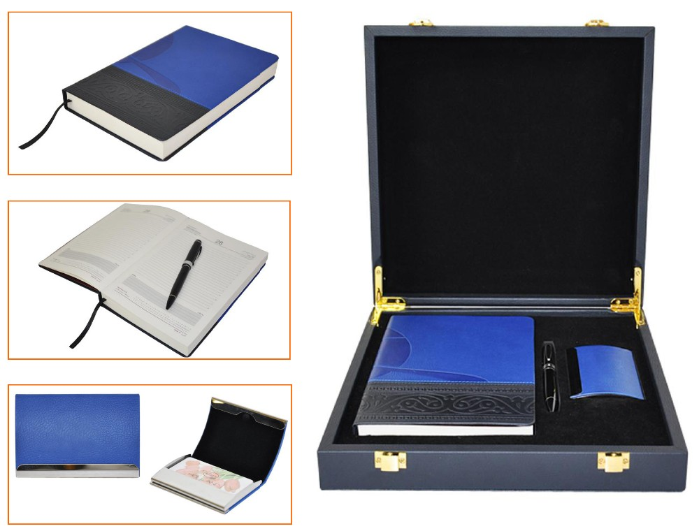 KID promotion classical leather business office stationery men gift sets