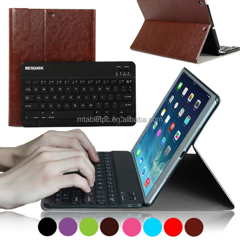 Magnetic Keyboard Case for iPad Air Smart Cover Folio Luxury Leather for iPad Air with Wireless Bluetooth keyboard