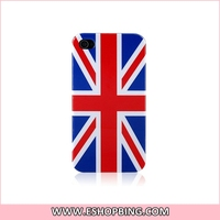 KN132 UK Britain Flag Back Hard Case Cover for Apple for iphone 4G