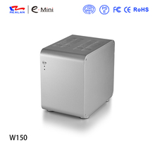 Realan W150 aluminum mini ITX case,computer chasis USB 2.0/3.0 with 1*8015fan and wifi