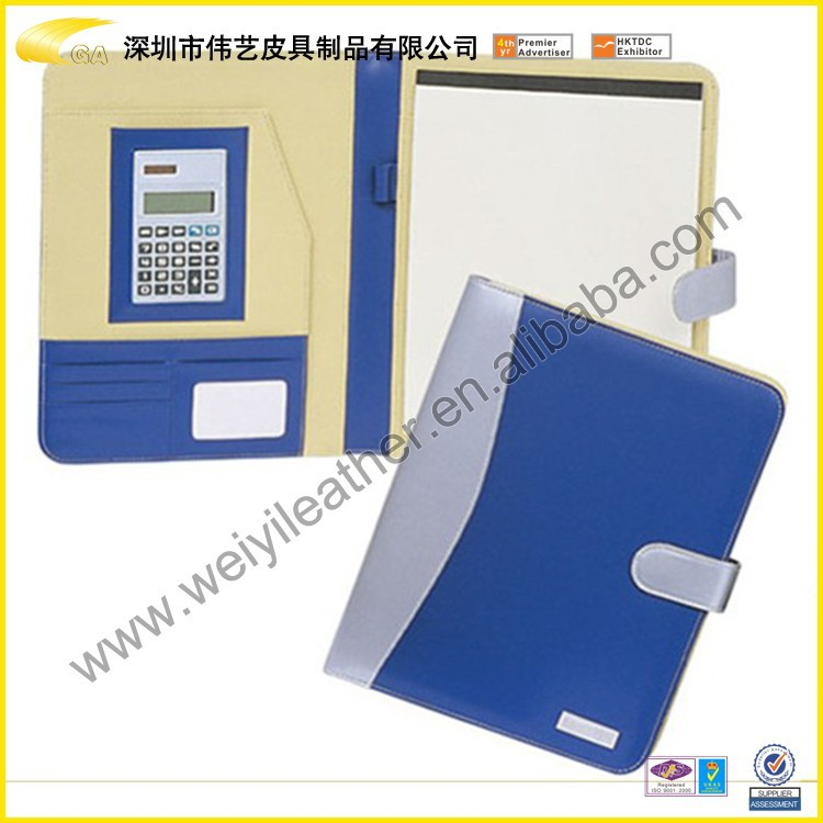 2015 handmade leather office stationery file folder