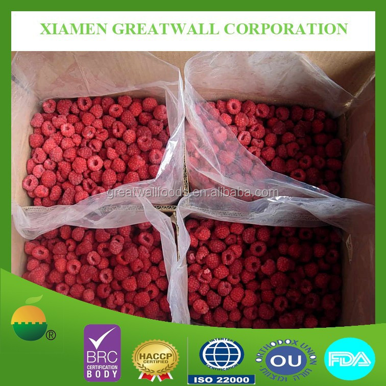 Frozen fruits IQF raspberry A grade