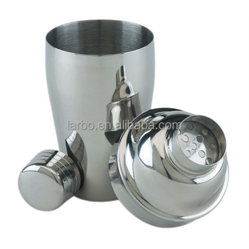 Stainless Steel 3-Piece Cocktail Shaker Set 16-Ounce