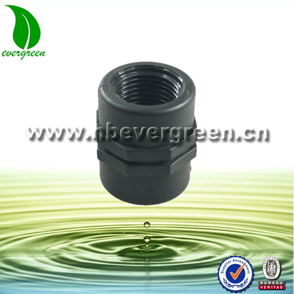 Plastic male female pipe fittings made in PP material