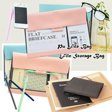 custom new design wholesale PU/leather A4 size document file carrying case briefcase