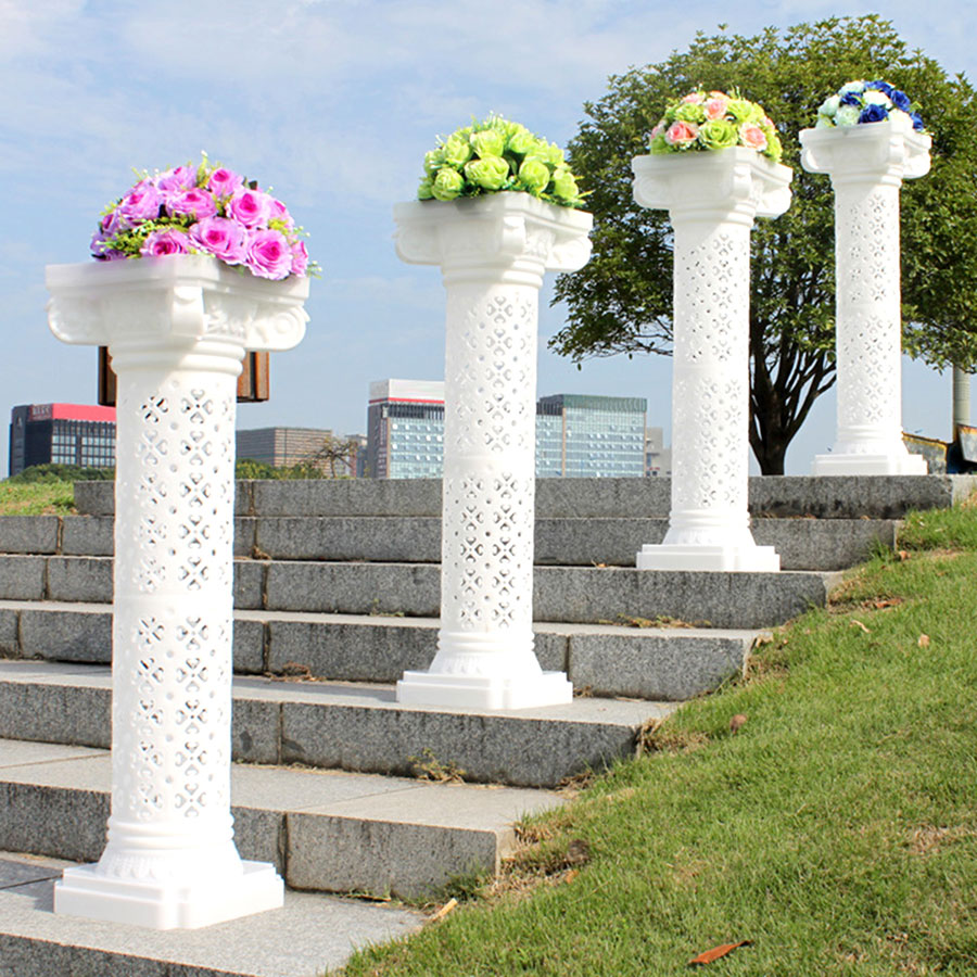 High quality polyurethane moulding 23-g2 plastic wedding pillars columns for sale
