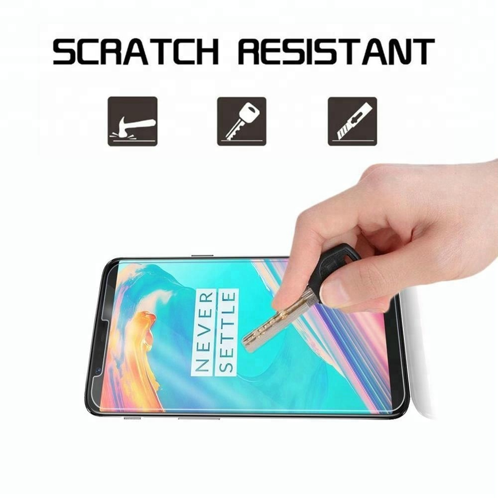 9H tempered cell phone glass screen protector For Oneplus 5 6