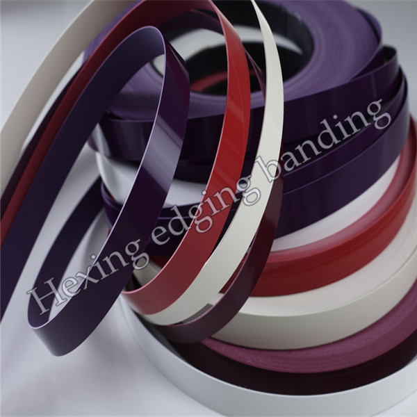 High Gloss wood grain edge banding pvc profile