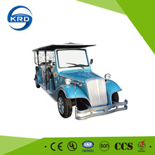 Colorful 8 seats tourist sightseeing electrical classic retro car for sale
