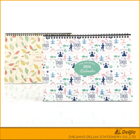 China supplies colorful printed office table calendar design