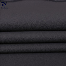 Stock black waterproof microfiber leather fabric for shoes,handbags,sofa,car seat