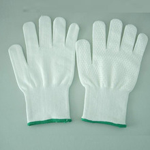 13Gauge knitted Anti-Cut Gloves With Mini White PVC Dots On Palm