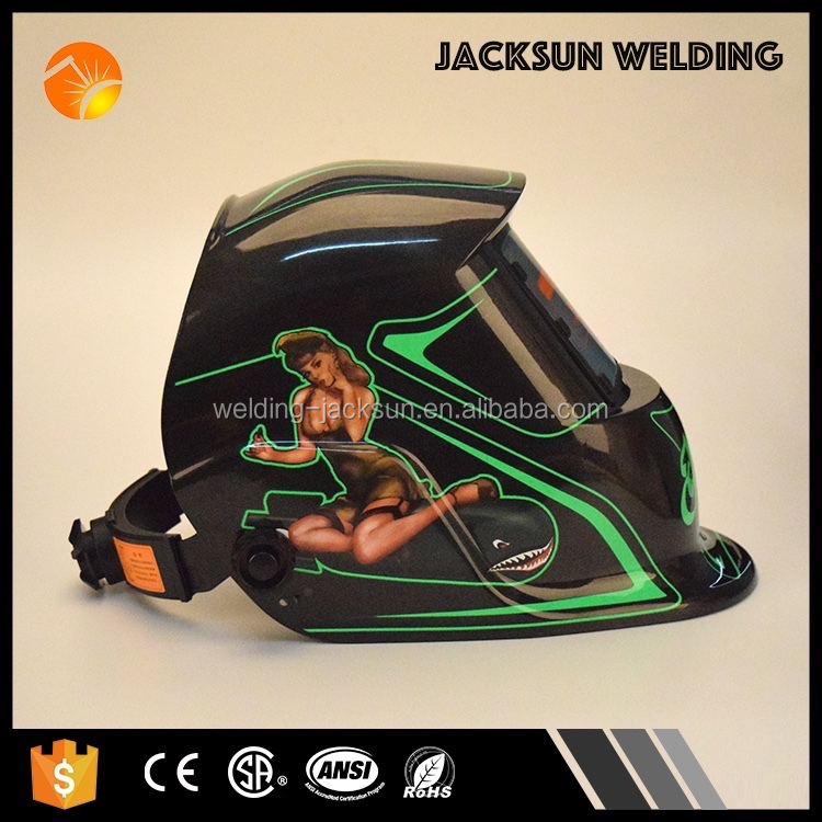 Color OEM auto darkening laser welding helmet with low price