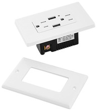 Dual USB Charger Duplex Receptacle, 4.2A Tamper Resistant Outlet and Free Wall Plate