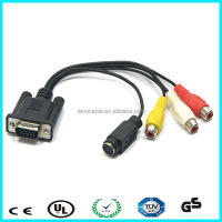 3+5 wiring diagram vga rca audio &video cable