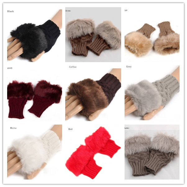 2014 warm cotton fashion knitted funky gloves