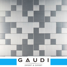 China stylish modern metal backsplash waterjet mosaic