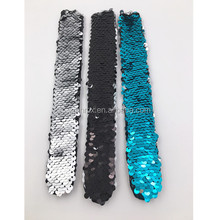 Latest Design Monogram Sequin Mermaid Bracelet Best Gifts For Women Kids Reversible Sequin Slap Snap Bracelet