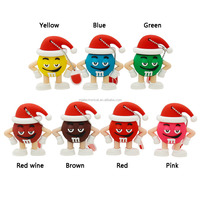 Personalise usb flash pendrive 4g/8g/16g/32g flash card Christmas hats Series Doll flash drive Christmas present free shipping