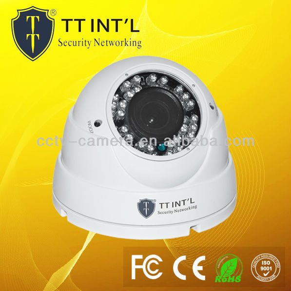 "700TVL 1/3"" SONY CCD, IR 30M,HLC,ICR,OSD, Motion Detection, Varifocal Dome Camera"
